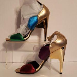 """Pierre Hardy 38.5 multi colored 5"""" Heels"""